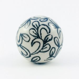 ceramic knob with black ink leaf design 300x300 - Black Ink Leaf Design Ceramic Knob