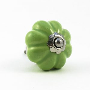 pea green solid melon knob 2 300x300 - Lime Green Ceramic Melon Knob