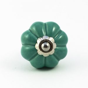 solid dark green melon knob 2 300x300 - Palm Green Ceramic Melon Knob