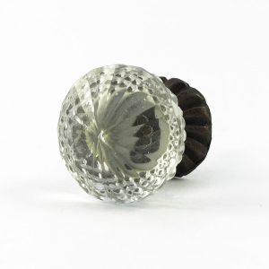 Vintage Clear Glass Decorative Knob