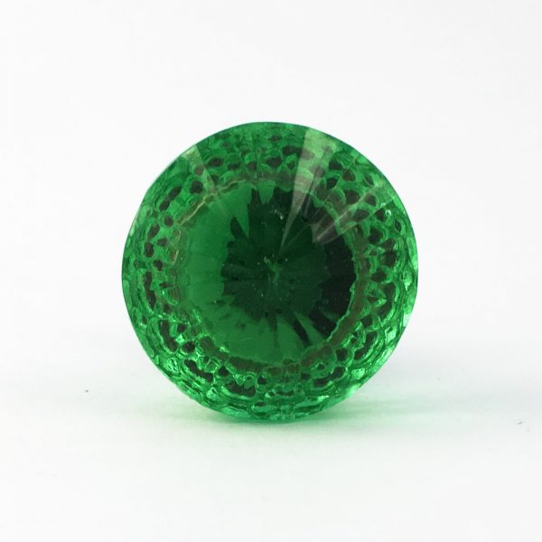 Vintage Green Glass Decorative Knob