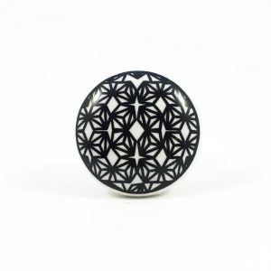 Black retro Geo pattern knob 1 300x300 - Black and White Retro Geo Knob