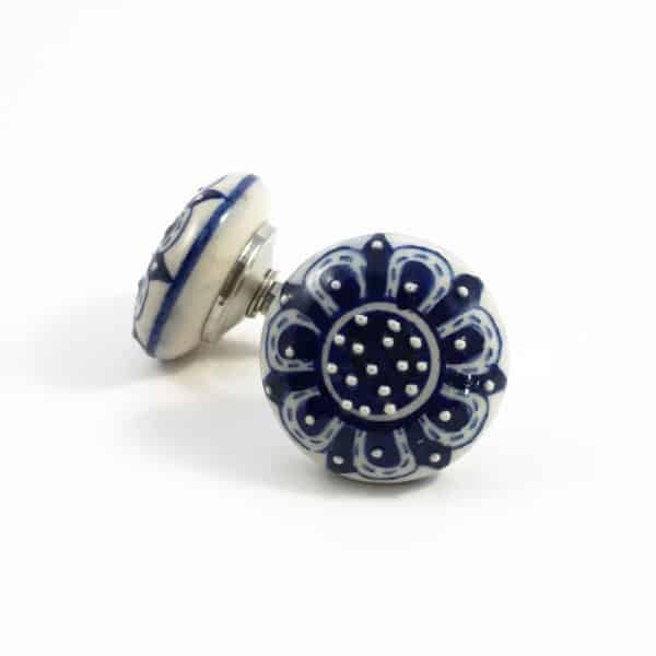 Navy Blue Spring Flower Knob