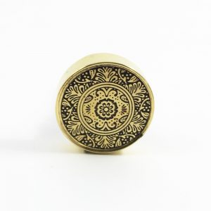 Brass round etched floral knob 1 300x300 - Shop for Cabinet Handles, Cabinet Pulls & Wall Hooks