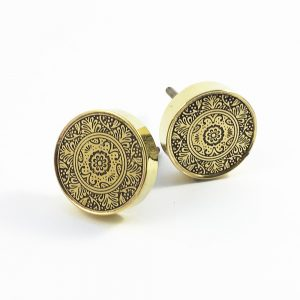 Brass round etched floral knob 3 300x300 - Shop for Cabinet Handles, Cabinet Pulls & Wall Hooks