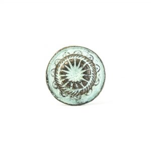 Mint Rustic Wheel Knob