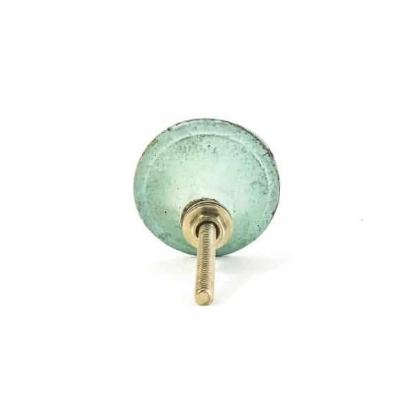 Mint Rustic Wheel Knob