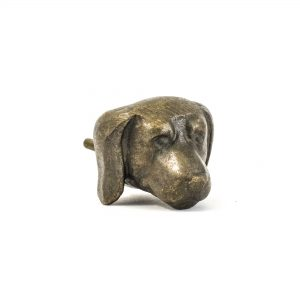 Antique Gold Dog Knob
