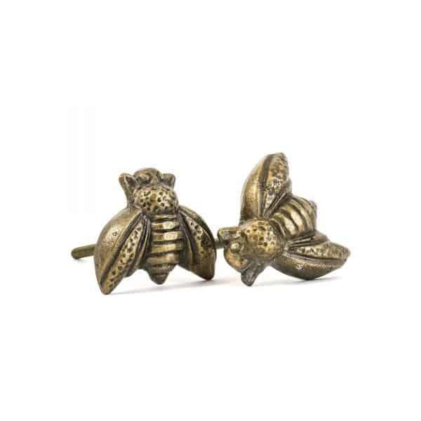 Antique Gold Honeybee Knob