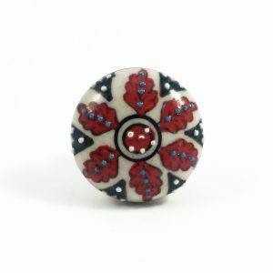 Red spring flower knob 4 300x300 - Shop for Cabinet Handles, Cabinet Pulls & Wall Hooks