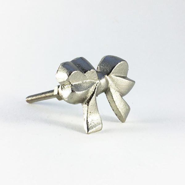 Silver iron bow knob 8 600x600 - Silver Ribbon Bow Knob