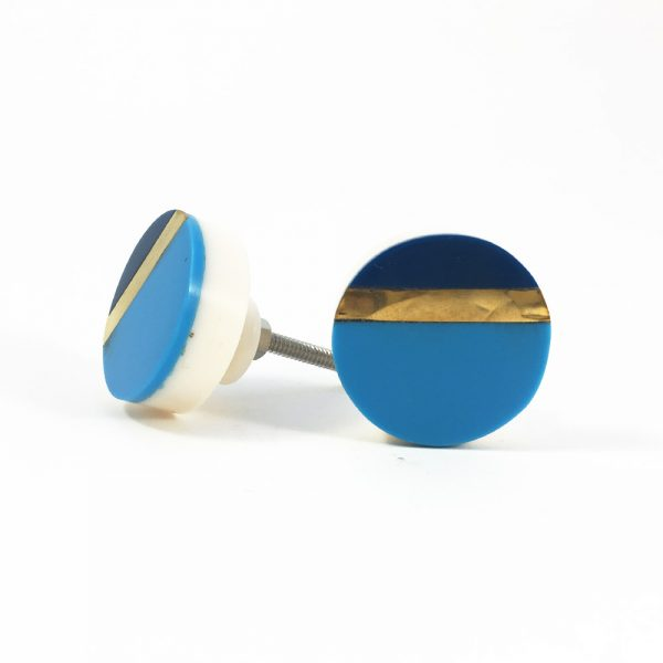 Two tone blue and gold splicer knob 1 600x600 - Two Tone Blue Splicer Knob