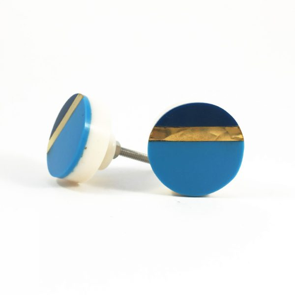 Two tone blue and gold splicer knob 2 600x600 - Two Tone Blue Splicer Knob