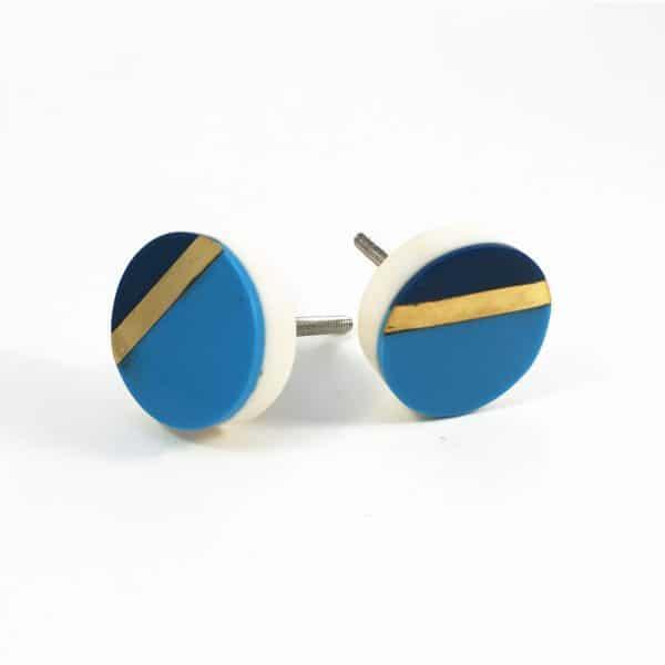 Two Tone Blue Splicer Knob