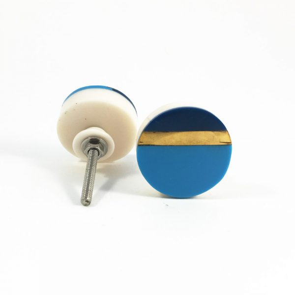 Two tone blue and gold splicer knob 4 600x600 - Two Tone Blue Splicer Knob