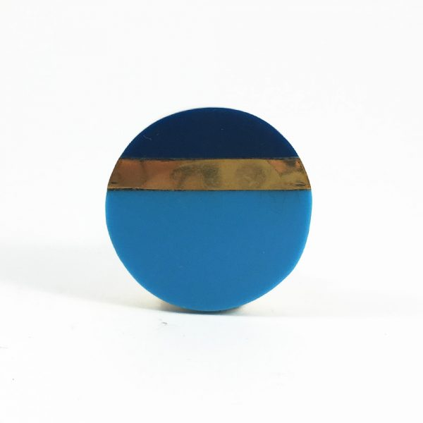 Two tone blue and gold splicer knob 5 600x600 - Two Tone Blue Splicer Knob
