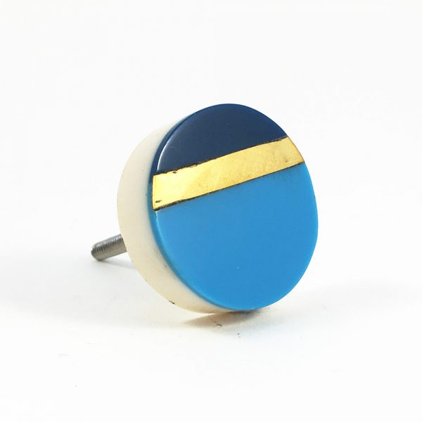 Two tone blue and gold splicer knob 6 600x600 - Two Tone Blue Splicer Knob