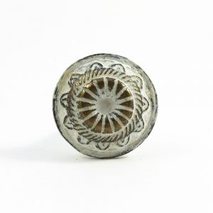 White Rustic Wheel Knob