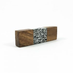 Speckled Wood and Resin Pull Bar Knob