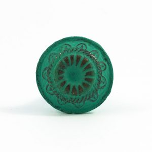 Jade Green Rustic Wheel Knob