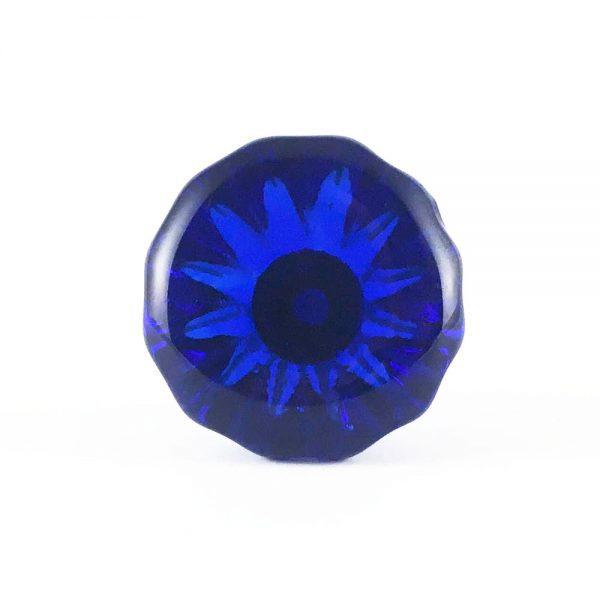 Blue Glass Gem Knob