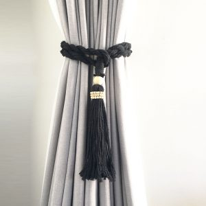 bohemian macrame curtain tiebacks black 4 300x300 - Shop for Cabinet Handles, Cabinet Pulls & Wall Hooks