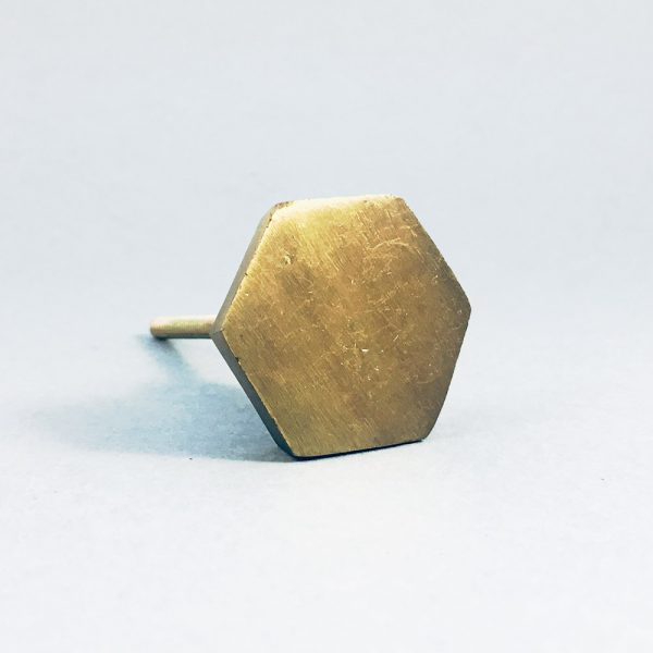 Antique gold hexagon iron knob 3 600x600 - Antique Gold Hexagon Knob