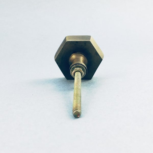 Antique gold hexagon iron knob 8 600x600 - Antique Gold Hexagon Knob