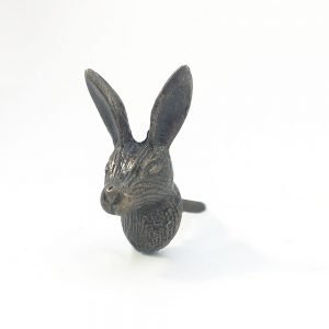 antique gold wall hook 1 300x300 - Antique Gold Iron Rabbit Knob