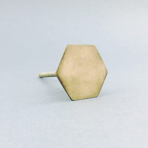 antiquegold slimline hexagon knob 5 300x300 - Antique Gold Slimline Hexagon Knob