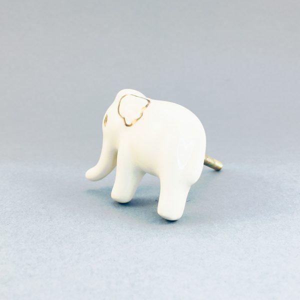 White Baby Elephant Knob