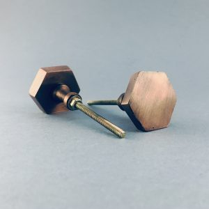 copper iron hexagon knob 1 300x300 - Copper Hexagon Knob