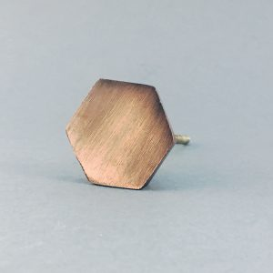 Copper Hexagon Knob