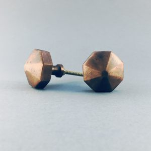 copper iron octagon prism knob 3 300x300 - Copper Octagon Prism Knob