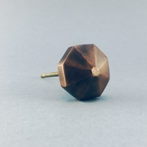Copper Octagon Prism Knob