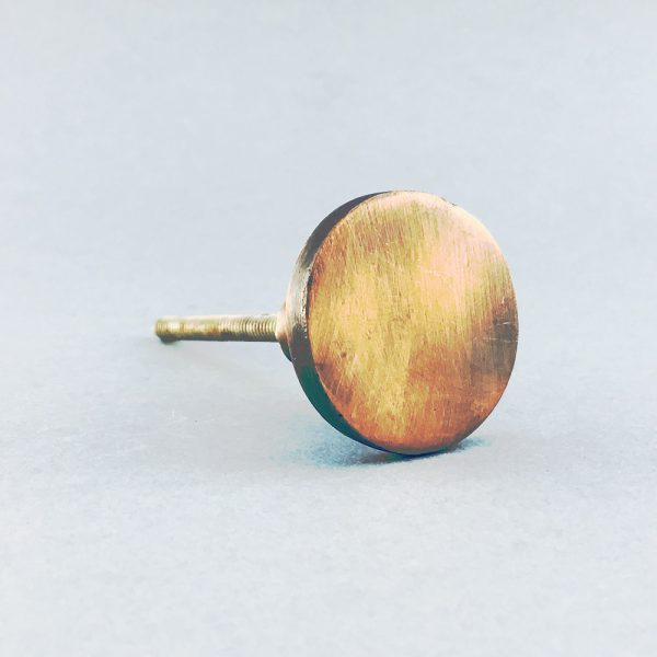 copper iron round knob 3 600x600 - Copper Circle Iron Knob