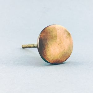 Copper Circle Iron Knob