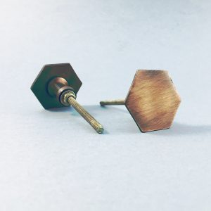 Copper Slimline Hexagon Knob
