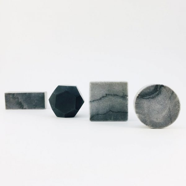grey marble group 1 600x600 - Grey Solid Rectangle Marble Knob