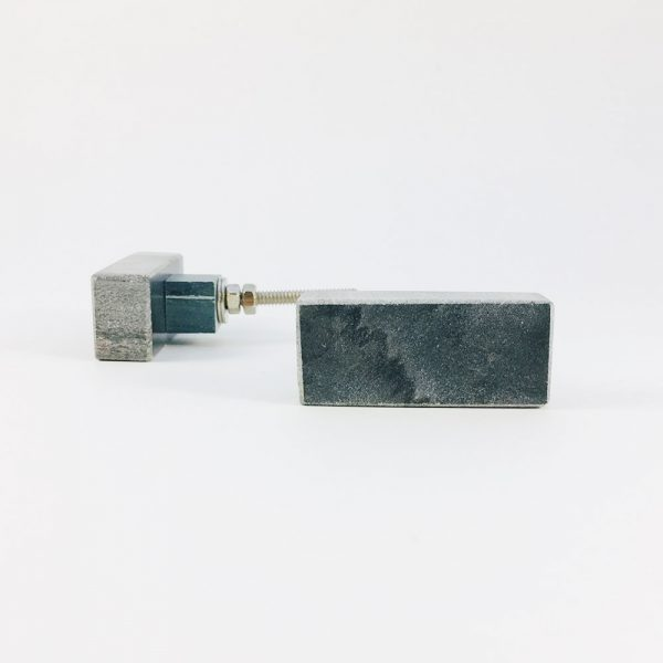 grey rectangle marble knob 4 600x600 - Grey Solid Rectangle Marble Knob