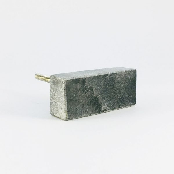 grey rectangle marble knob 6 600x600 - Grey Solid Rectangle Marble Knob
