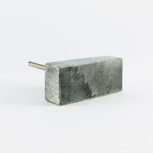 Grey Solid Rectangle Marble Knob