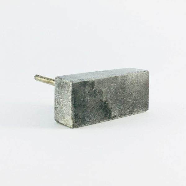 grey rectangle marble knob 7 600x600 - Grey Solid Rectangle Marble Knob