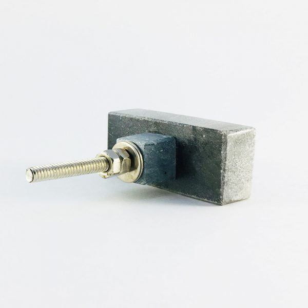 grey rectangle marble knob 9 600x600 - Grey Solid Rectangle Marble Knob