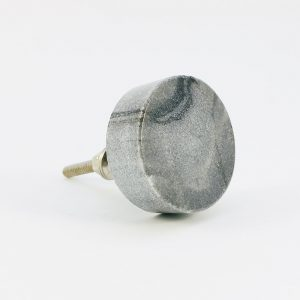 Grey Solid Circle Marble Knob