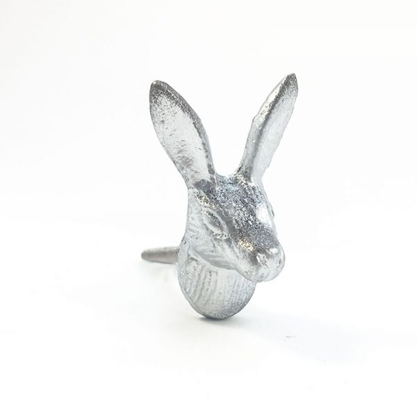 iron rabbits silver and gold 1 600x600 - Silver Iron Rabbit Knob