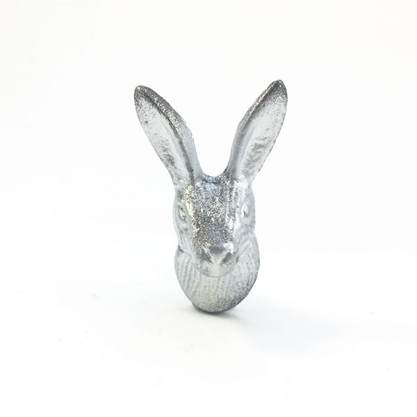 iron rabbits silver and gold 2 600x600 - Silver Iron Rabbit Knob
