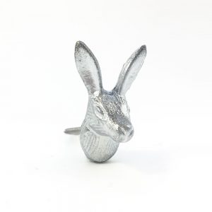 Silver Iron Rabbit Knob