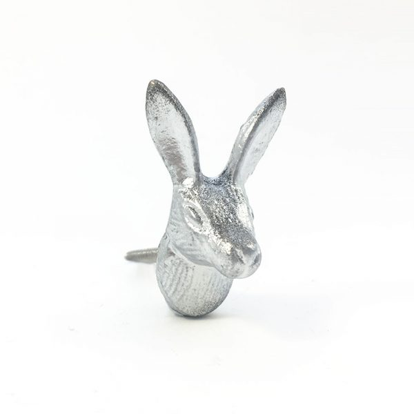 iron rabbits silver and gold 3 600x600 - Silver Iron Rabbit Knob