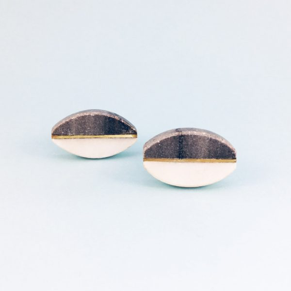 oval marble brass centred knob 1 600x600 - Oval Brass Centred Marble Knob